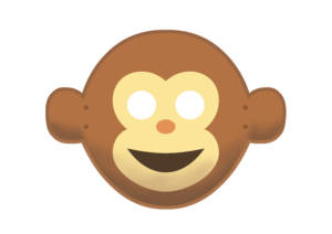 Monkey Mask - Happy - Large